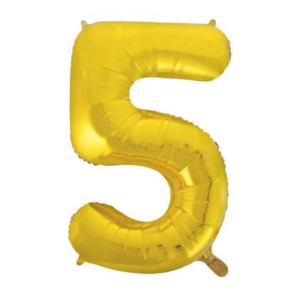 Numéro 5 Ballon Feuille Or 34