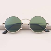 Maenner Sonnenbrille mit rundem Metall Rahmen