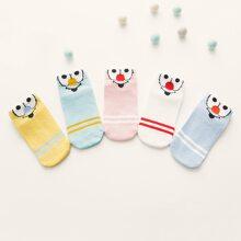 Toddler Girls Figure Graphic Socks