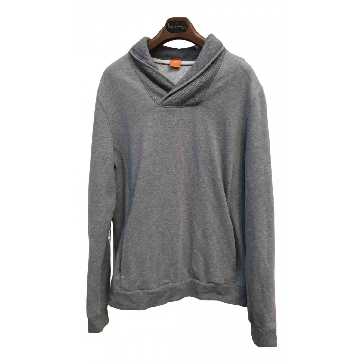 Boss - Manteau   pour homme en coton - gris