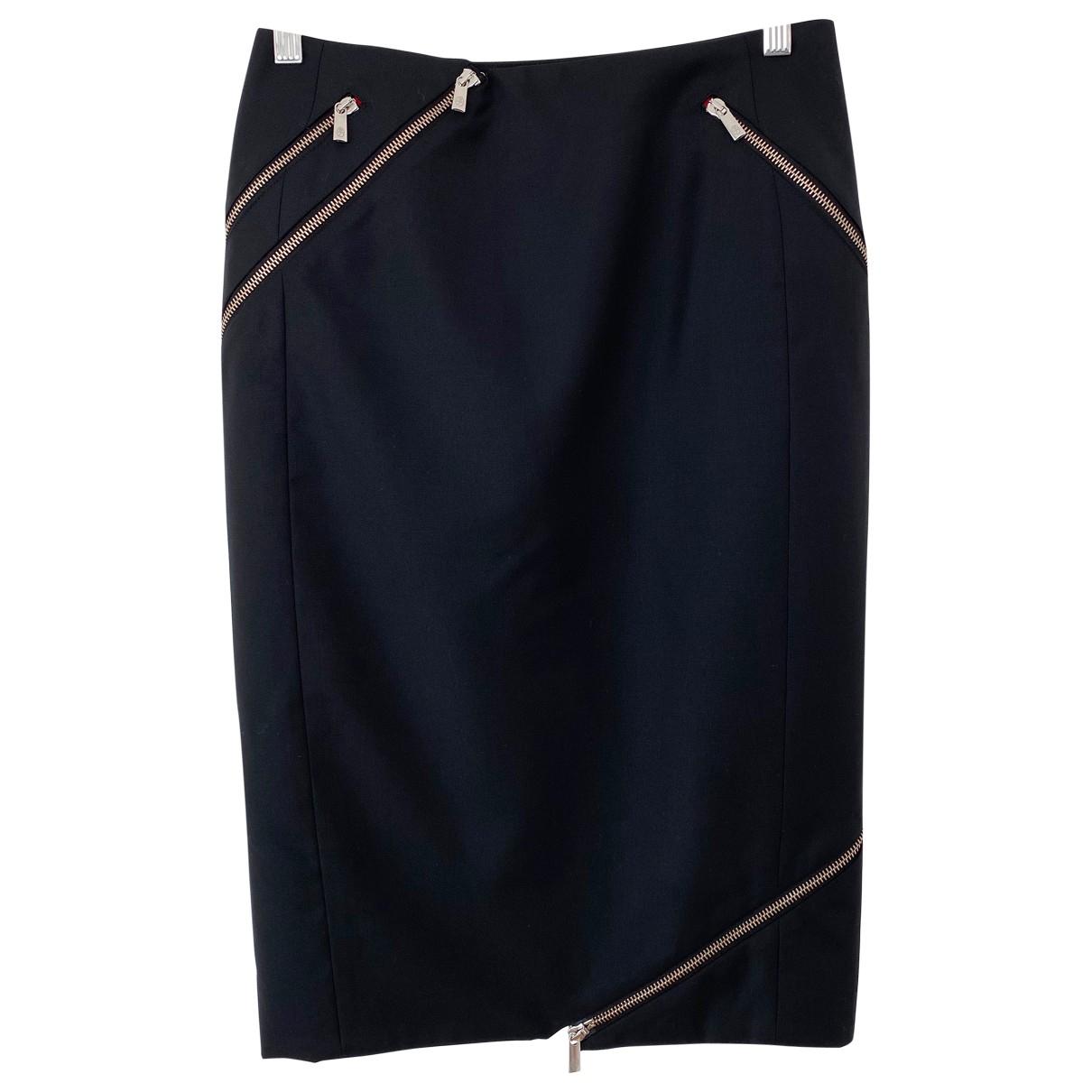 Jc De Castelbajac - Jupe   pour femme en laine - noir