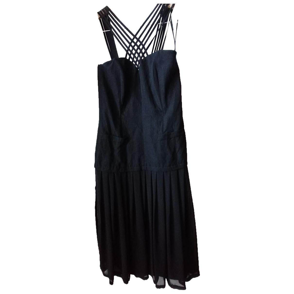 Louis Feraud \N Kleid in  Schwarz Viskose