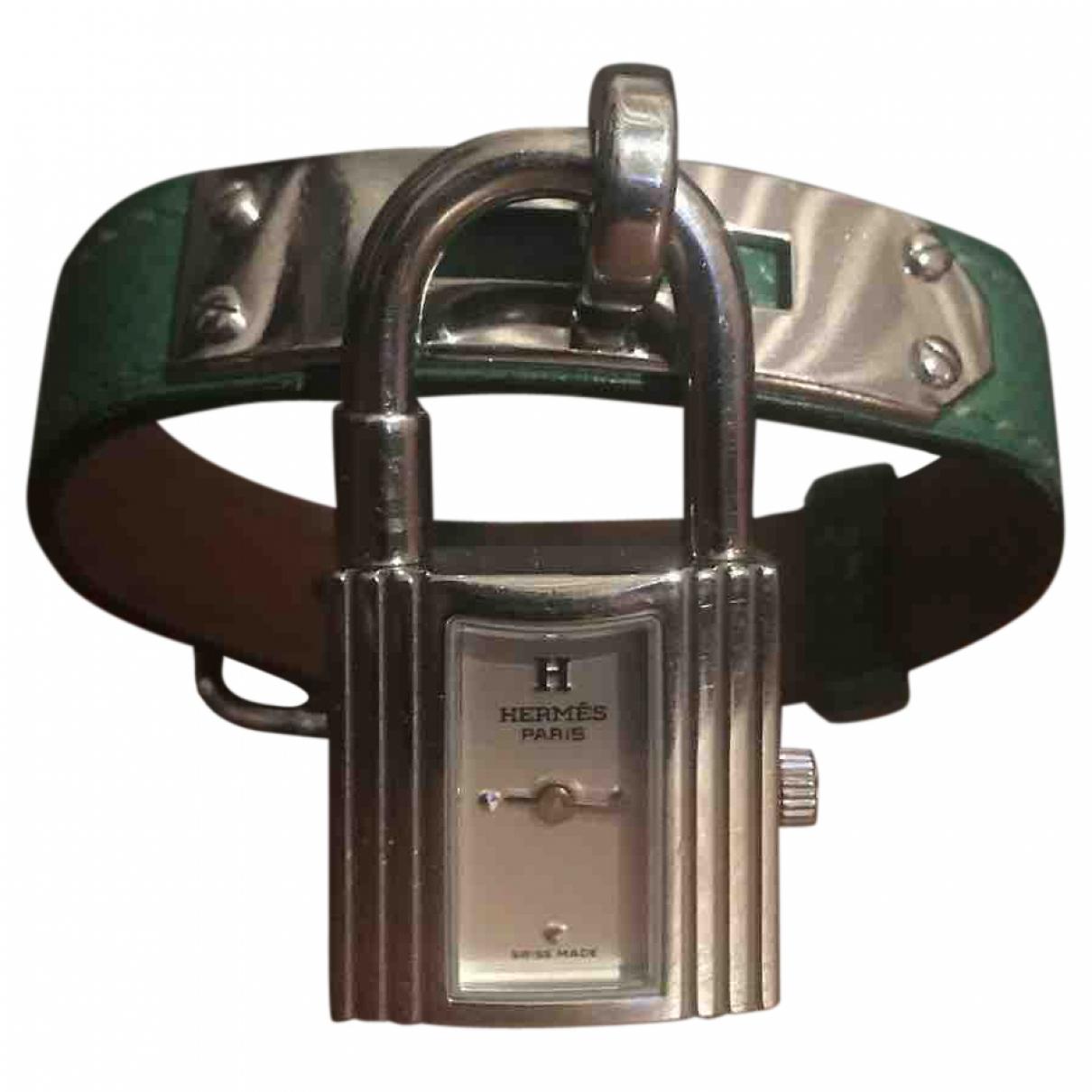 Hermes Kelly Uhr in  Gruen Stahl