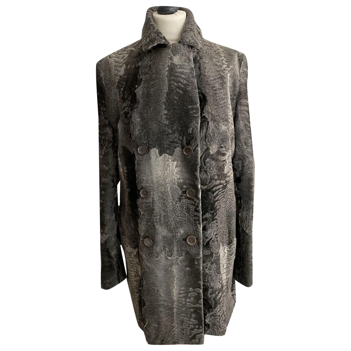 Jil Sander - Manteau   pour femme en fourrure - gris
