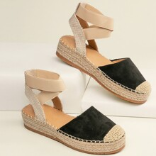 Closed Toe Ankle Strap Flatform Espadrilles
