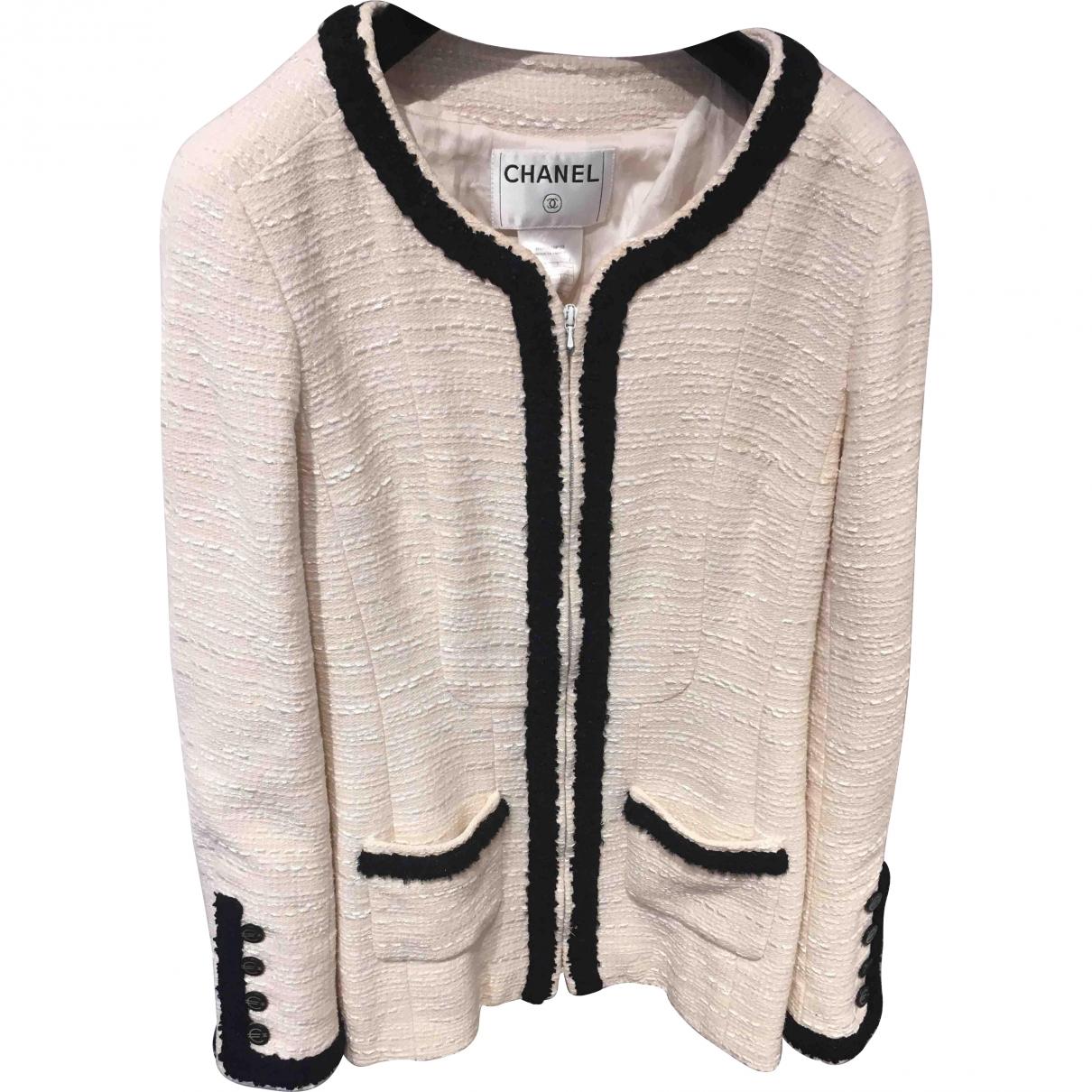 Chanel \N Ecru Wool jacket for Women 40 FR