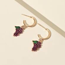 Grape Drop Earrings