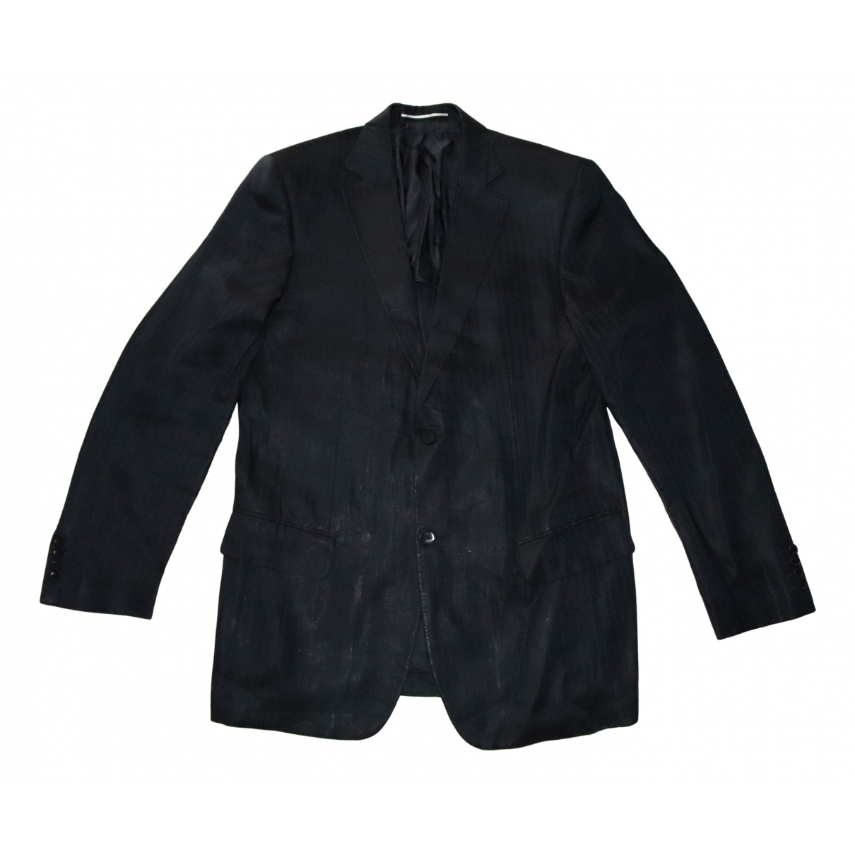 Karl Lagerfeld N Navy Linen jacket  for Men 52 IT