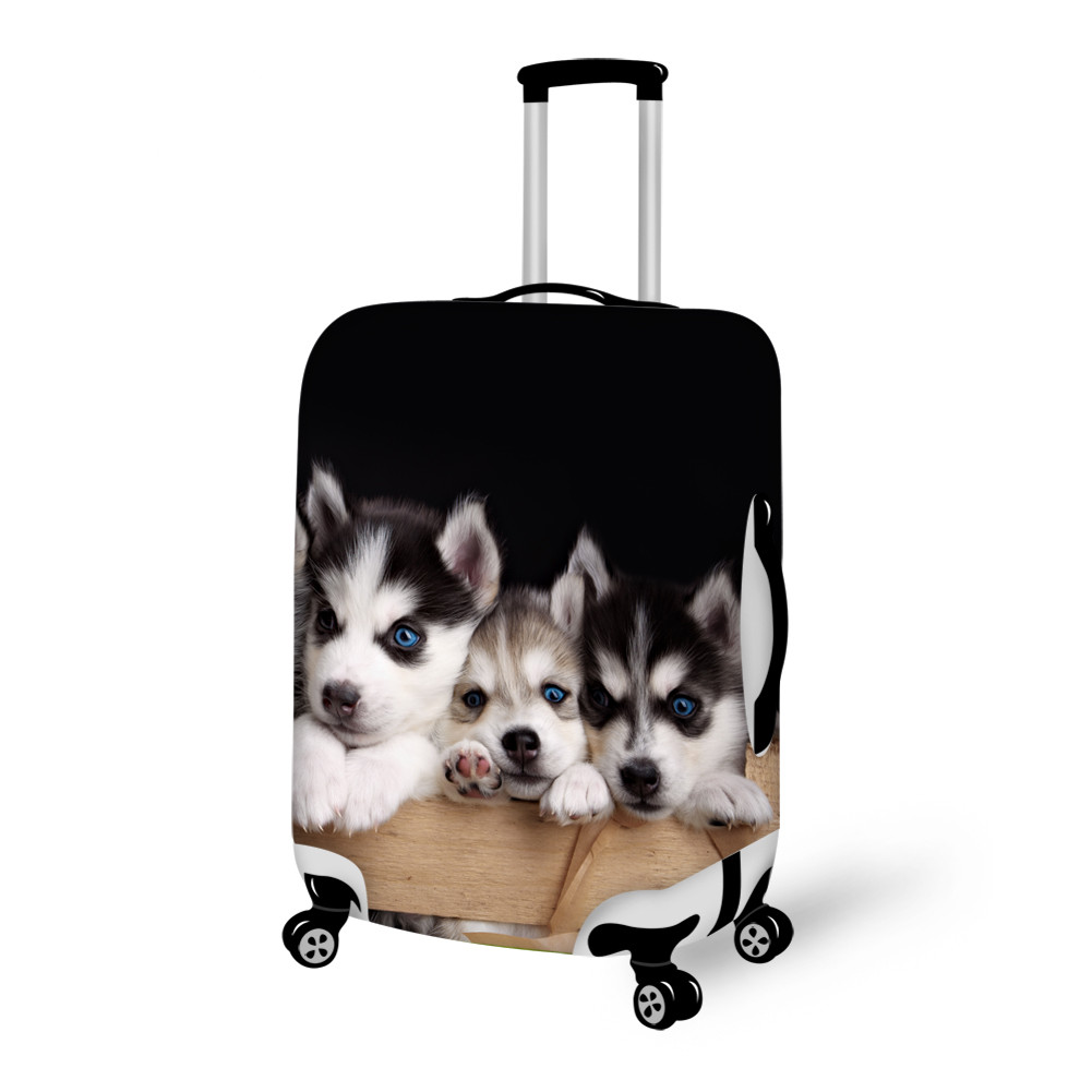 Cuddly Dog Pattern 3D Painted Luggage Cover