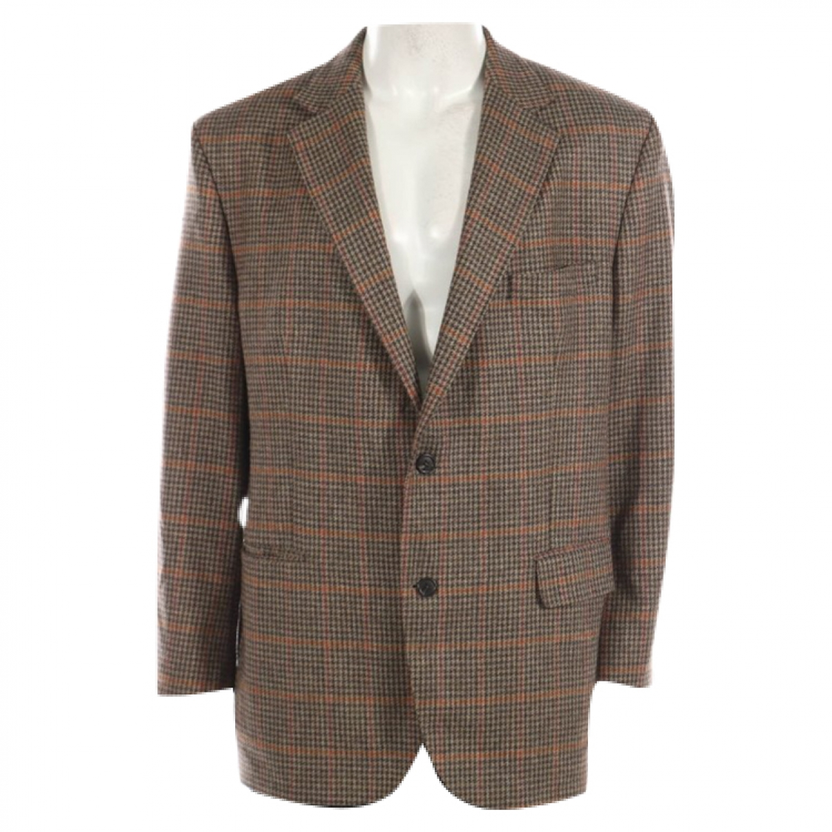 Non Signé / Unsigned \N Beige Wool jacket  for Men XL International