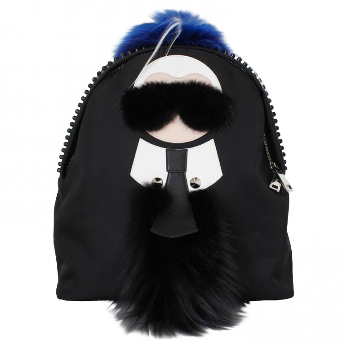 Fendi - Sac a dos   pour femme en cuir - noir