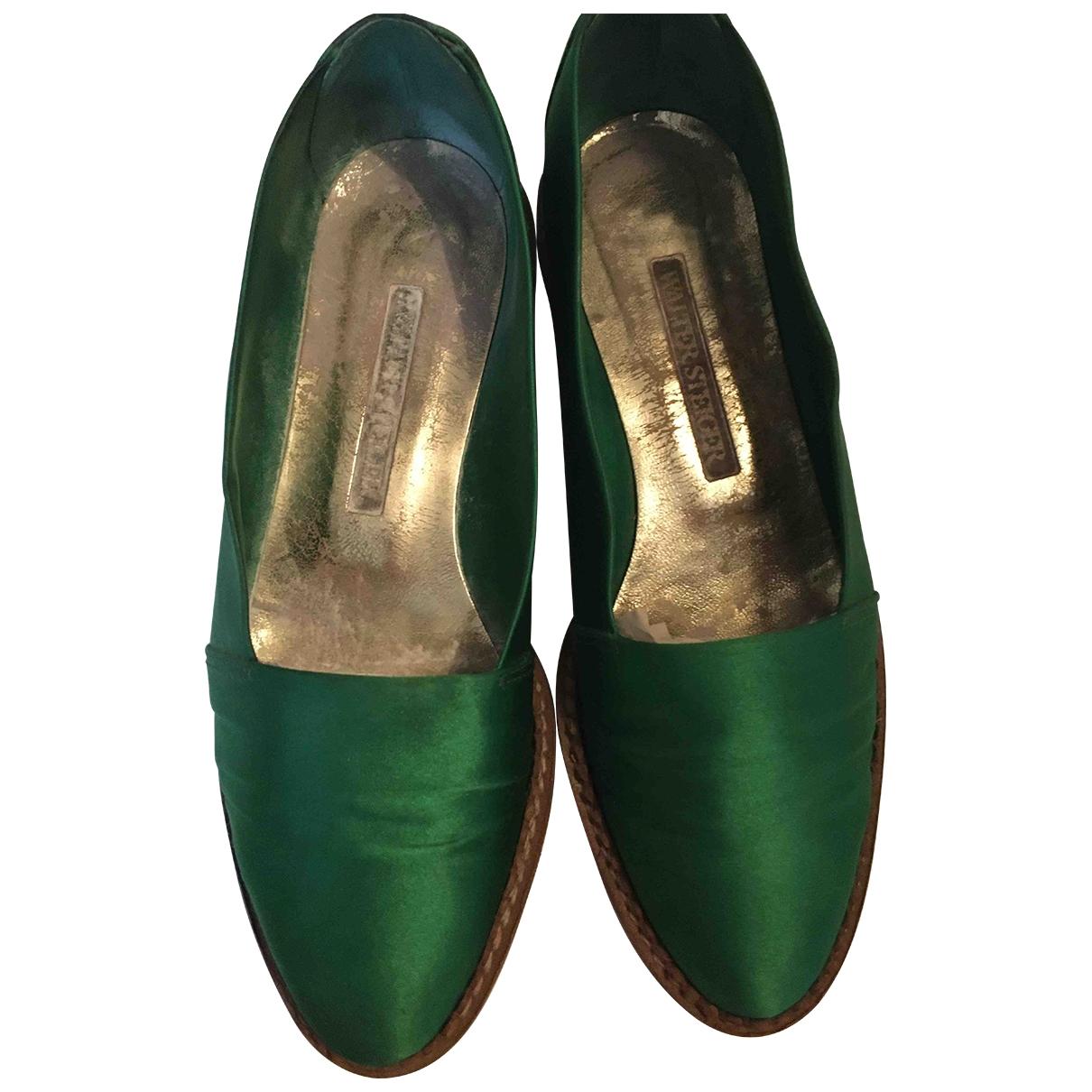 Walter Steiger \N Green Cloth Espadrilles for Women 38 EU
