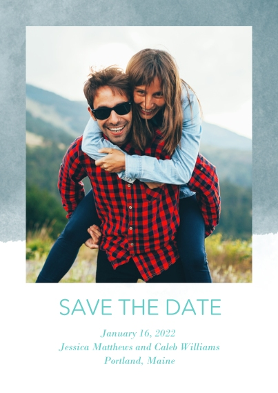 Save the Date 5x7 Cards, Premium Cardstock 120lb with Rounded Corners, Card & Stationery -Watercolor Wash