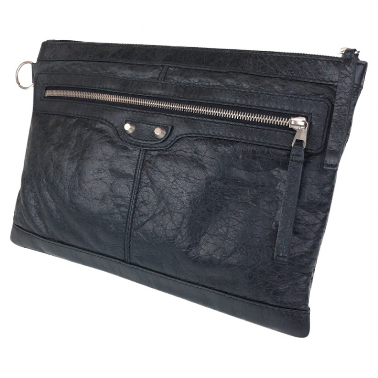 Balenciaga \N Leather Small bag, wallet & cases for Men \N