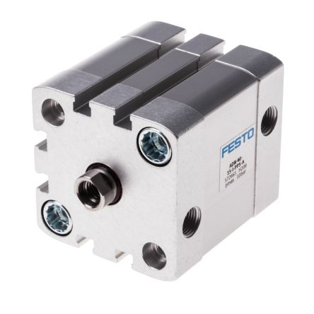 Festo Pneumatic Cylinder 40mm Bore, 15mm Stroke, ADN Series, Double Acting