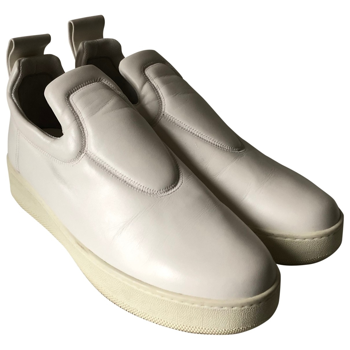 Celine \N White Leather Trainers for Men 43 EU