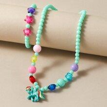 Toddler Girls Unicorn Beaded Jewelry Set