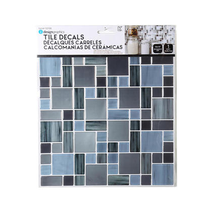 Tile Wall Decals Peel and Stick Self-Adhesive Square Gloss 10