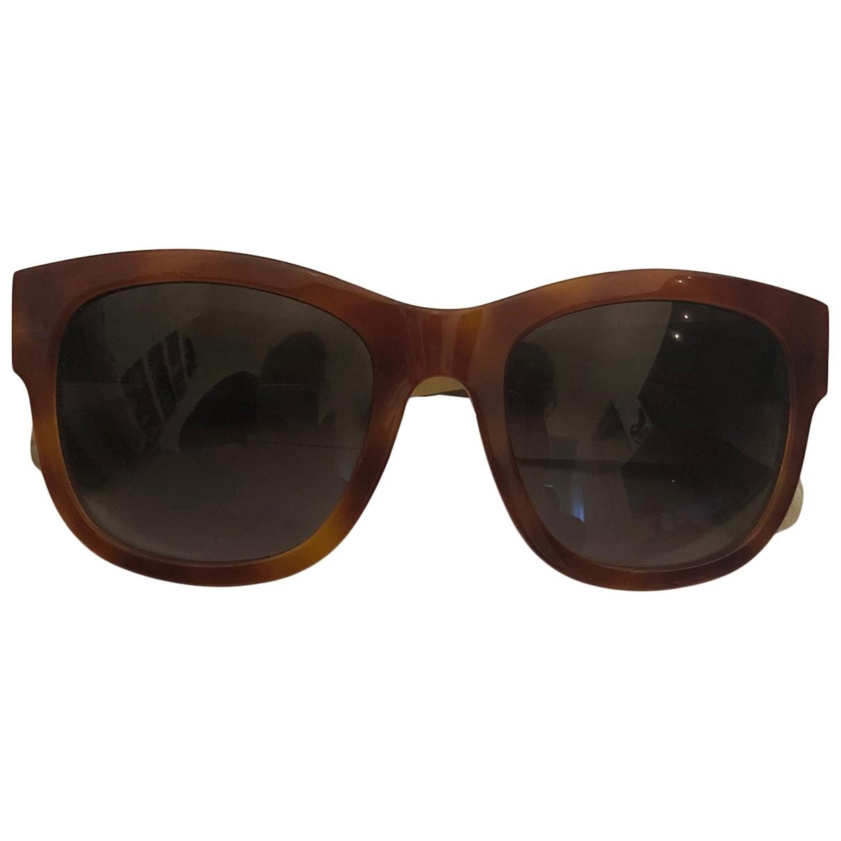 Balenciaga \N Sonnenbrillen in  Braun Kunststoff