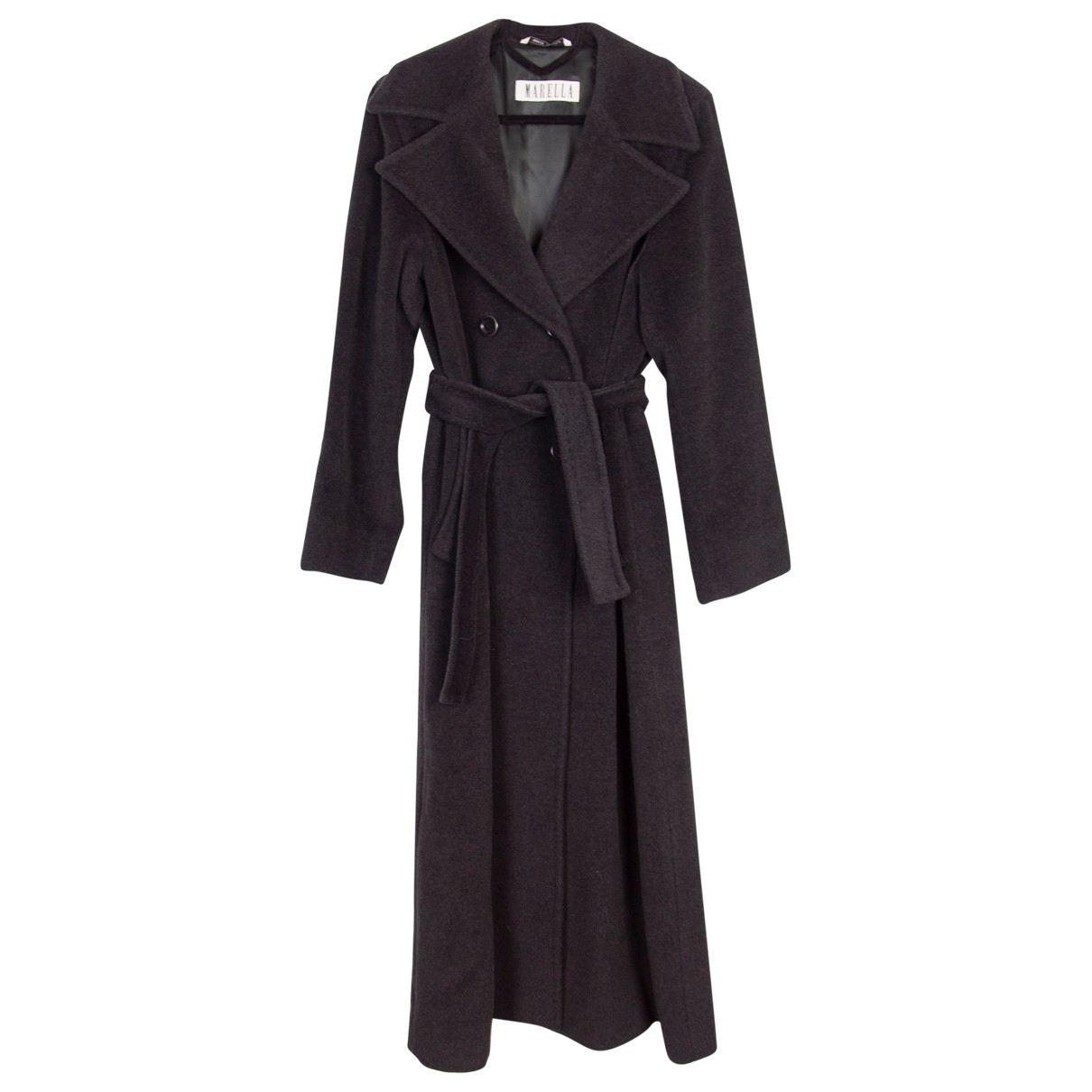 Marella N Anthracite Wool coat for Women 42 IT