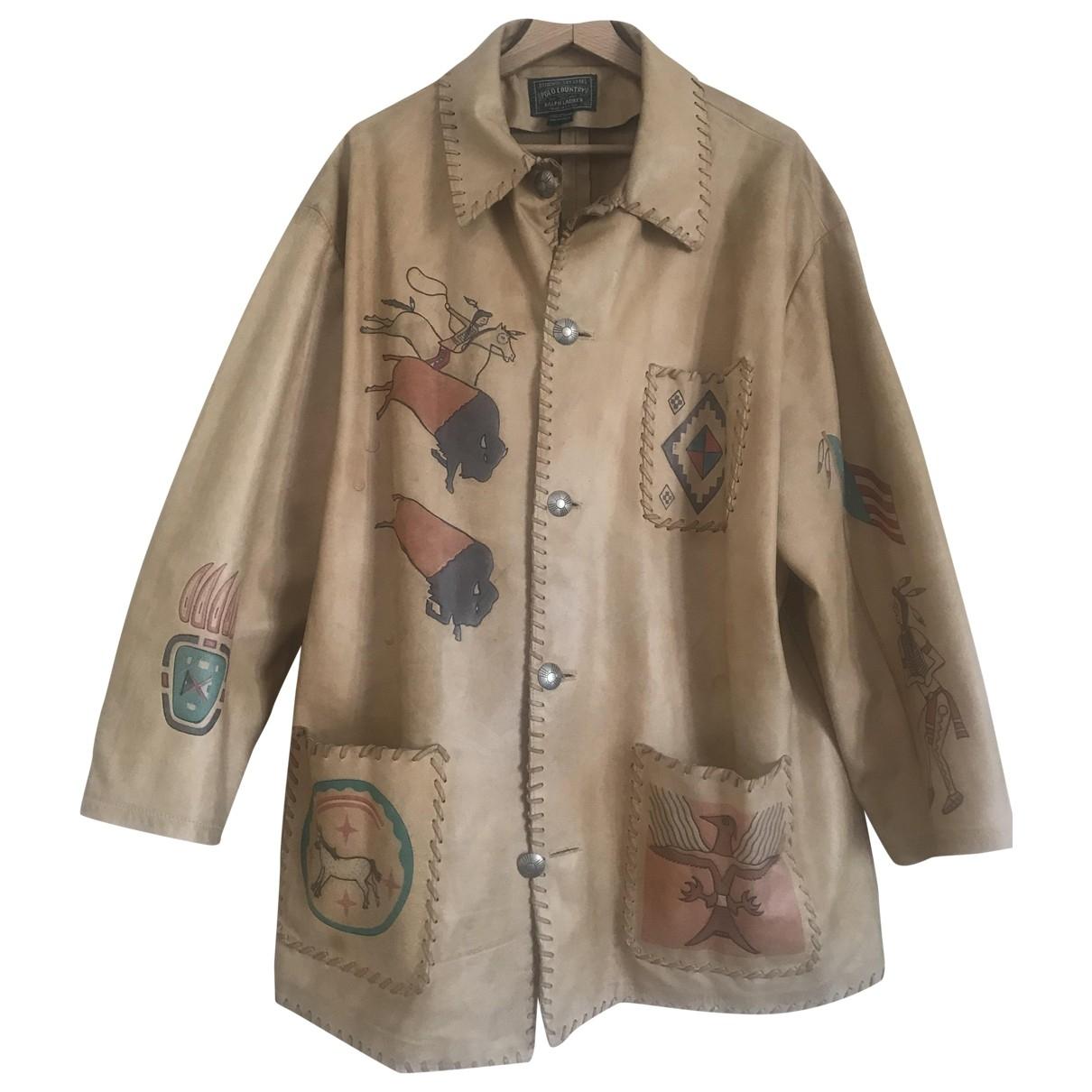 Polo Ralph Lauren - Vestes.Blousons   pour homme en cuir - ecru