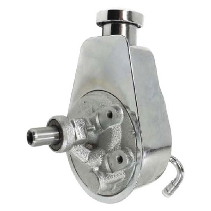 Racing Power Company R3728 Saginaw Press-On Power Steering Pump Chrome