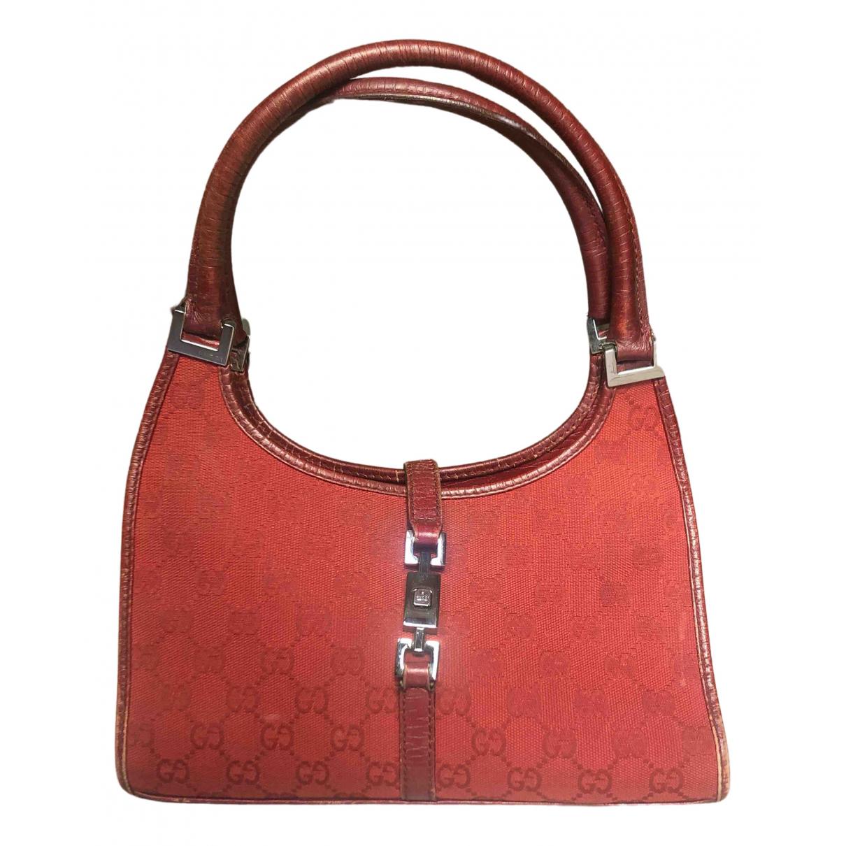 Gucci Jackie Vintage  Red Leather handbag for Women \N
