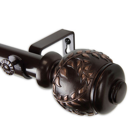 Rod Desyne Colette 1 IN Curtain Rod, One Size , Brown
