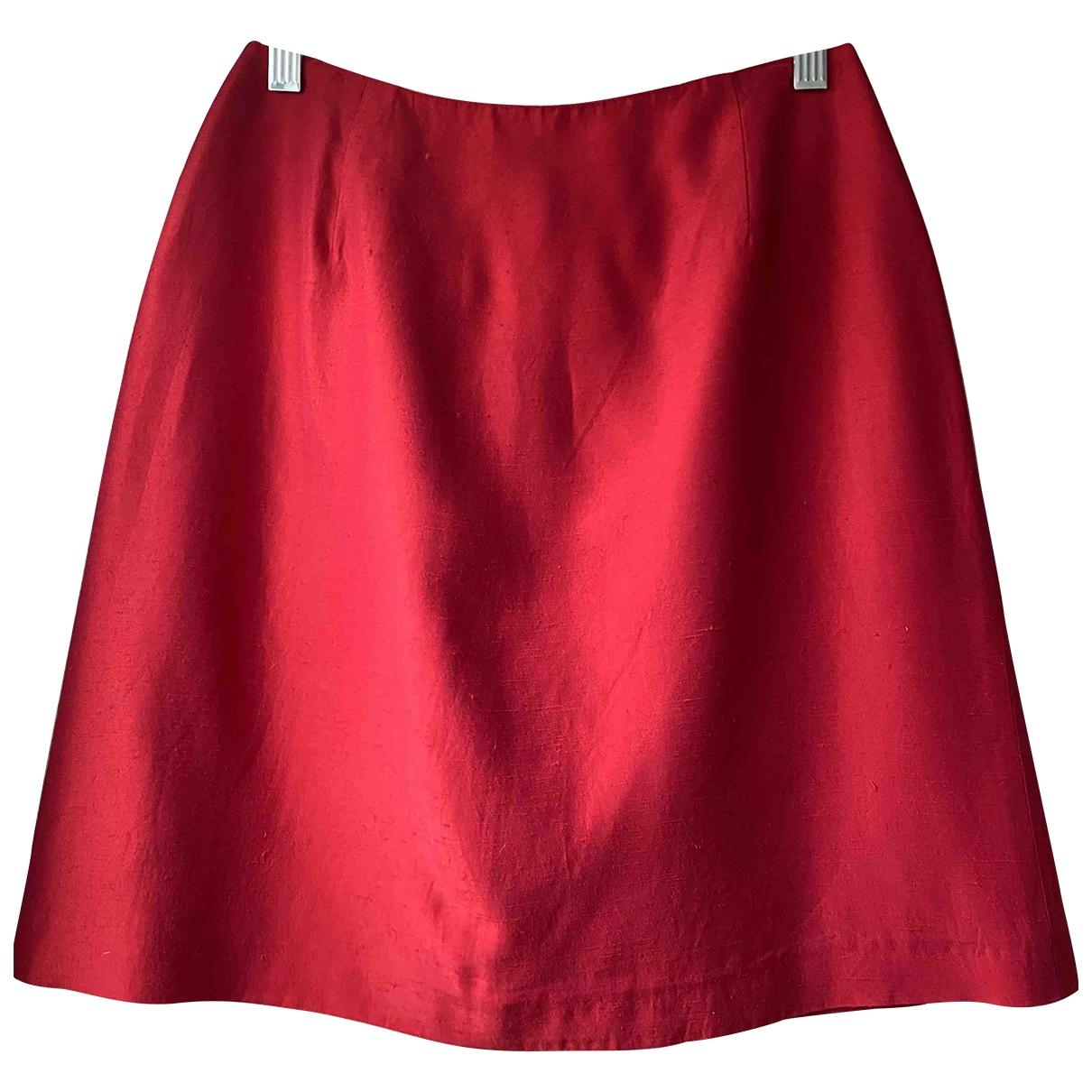 Tara Jarmon - Jupe   pour femme en soie - rouge