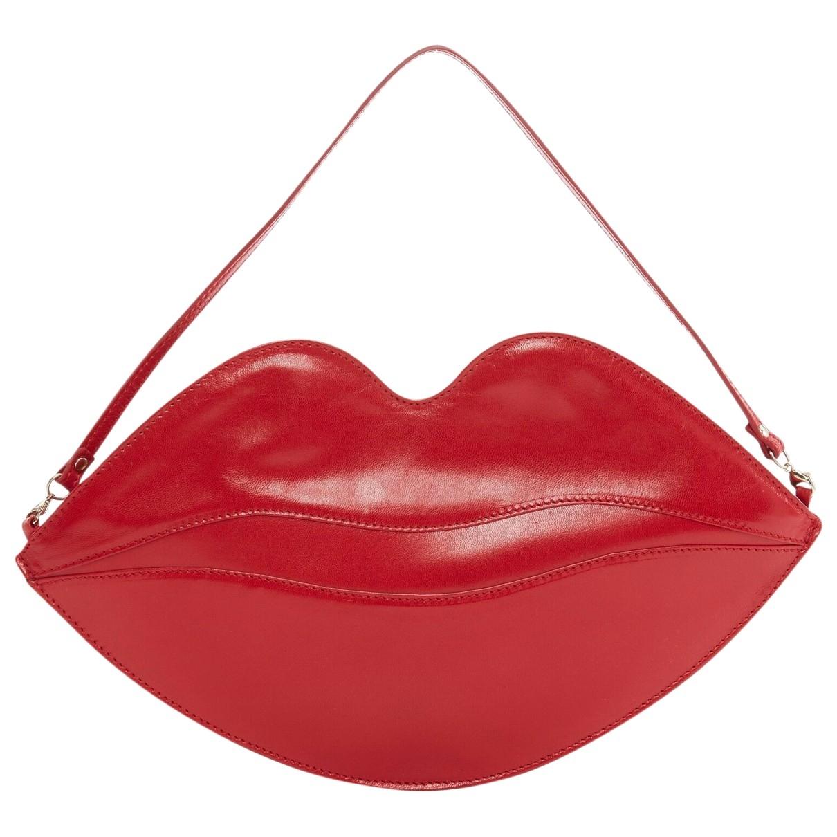 Charlotte Olympia \N Clutch in  Rot Leder
