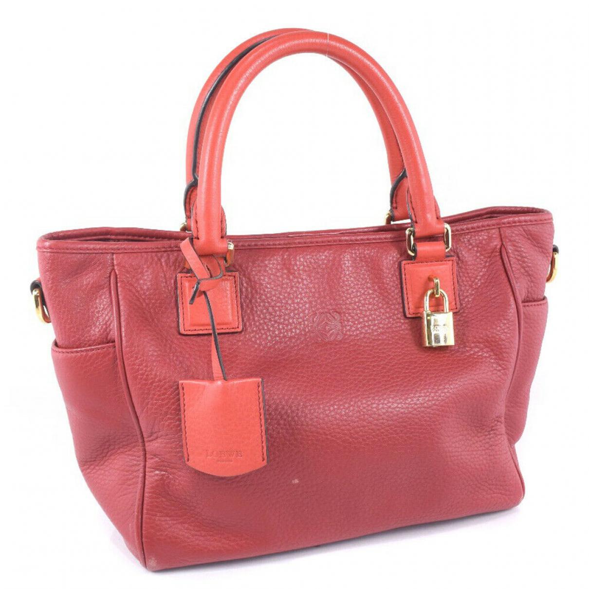 Loewe \N Leather handbag for Women \N
