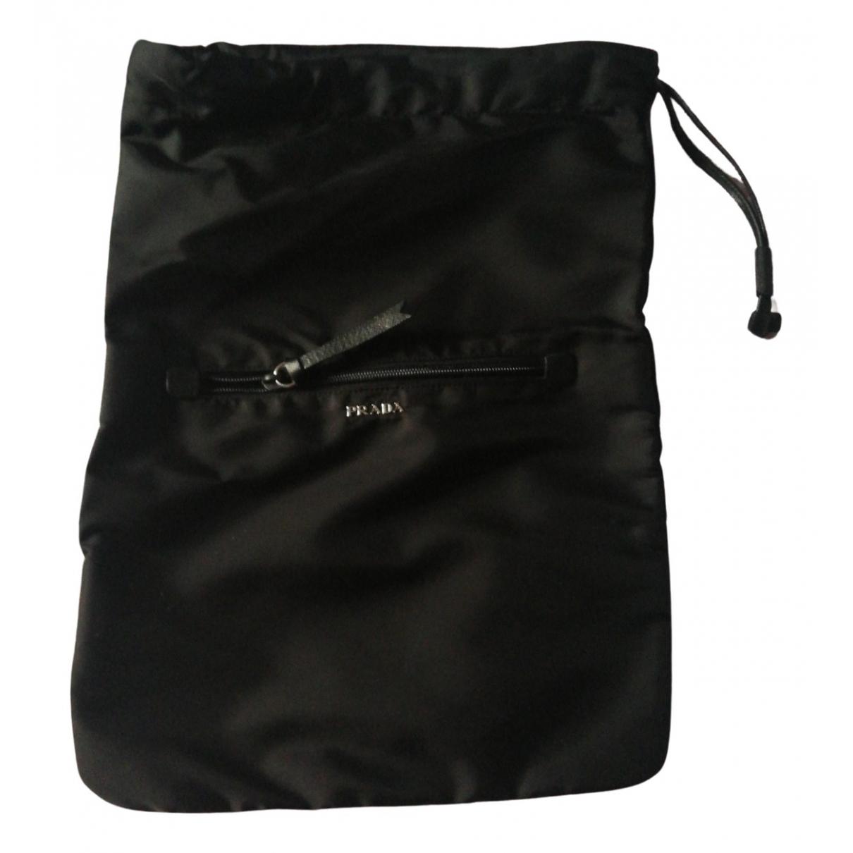 Prada - Sac de voyage   pour femme en toile - noir