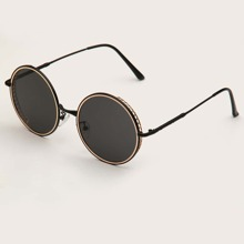 Round Metal Frame Sunglasses