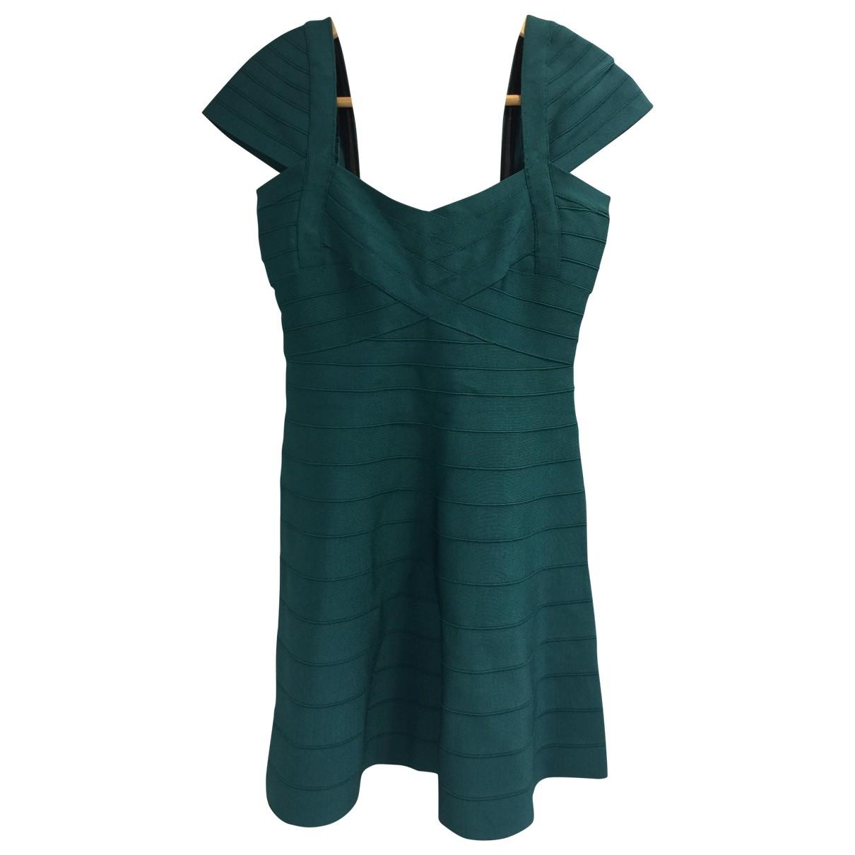 Herve Leger \N Green Linen dress for Women L International