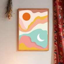 Wandmalerei mit abstraktem Muster ohne Rahmen