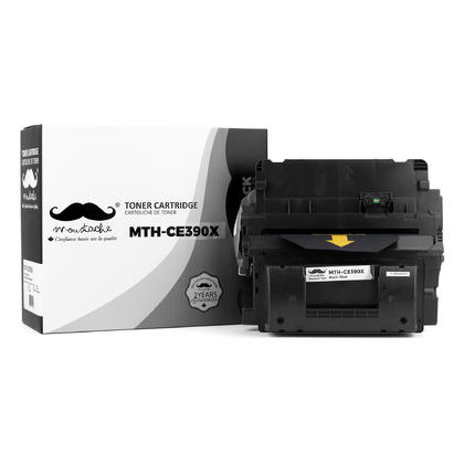 Compatible HP 90X CE390X cartouche de toner noire haute capacite - Moustache