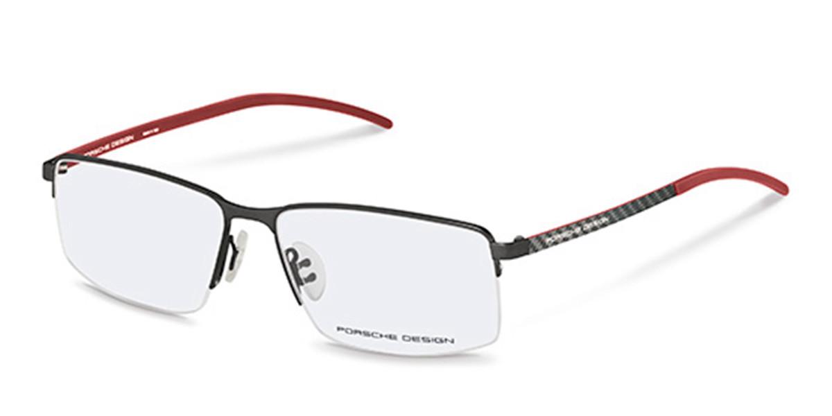 Porsche Design P8347 A Men's Glasses Black Size 56 - Free Lenses - HSA/FSA Insurance - Blue Light Block Available