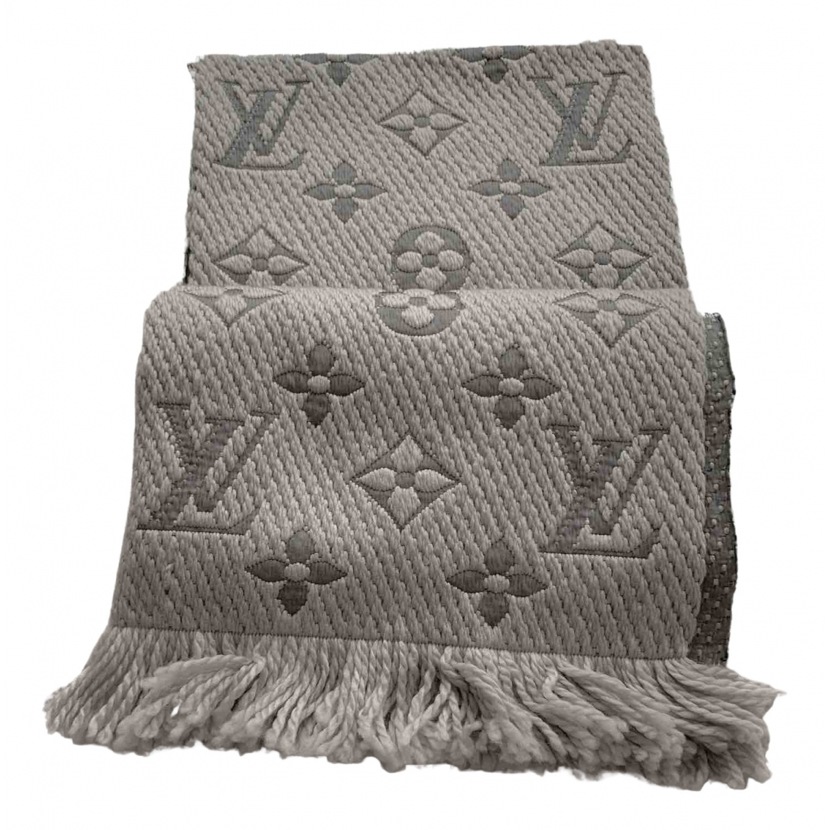 Louis Vuitton - Foulard Logomania pour femme en laine - gris