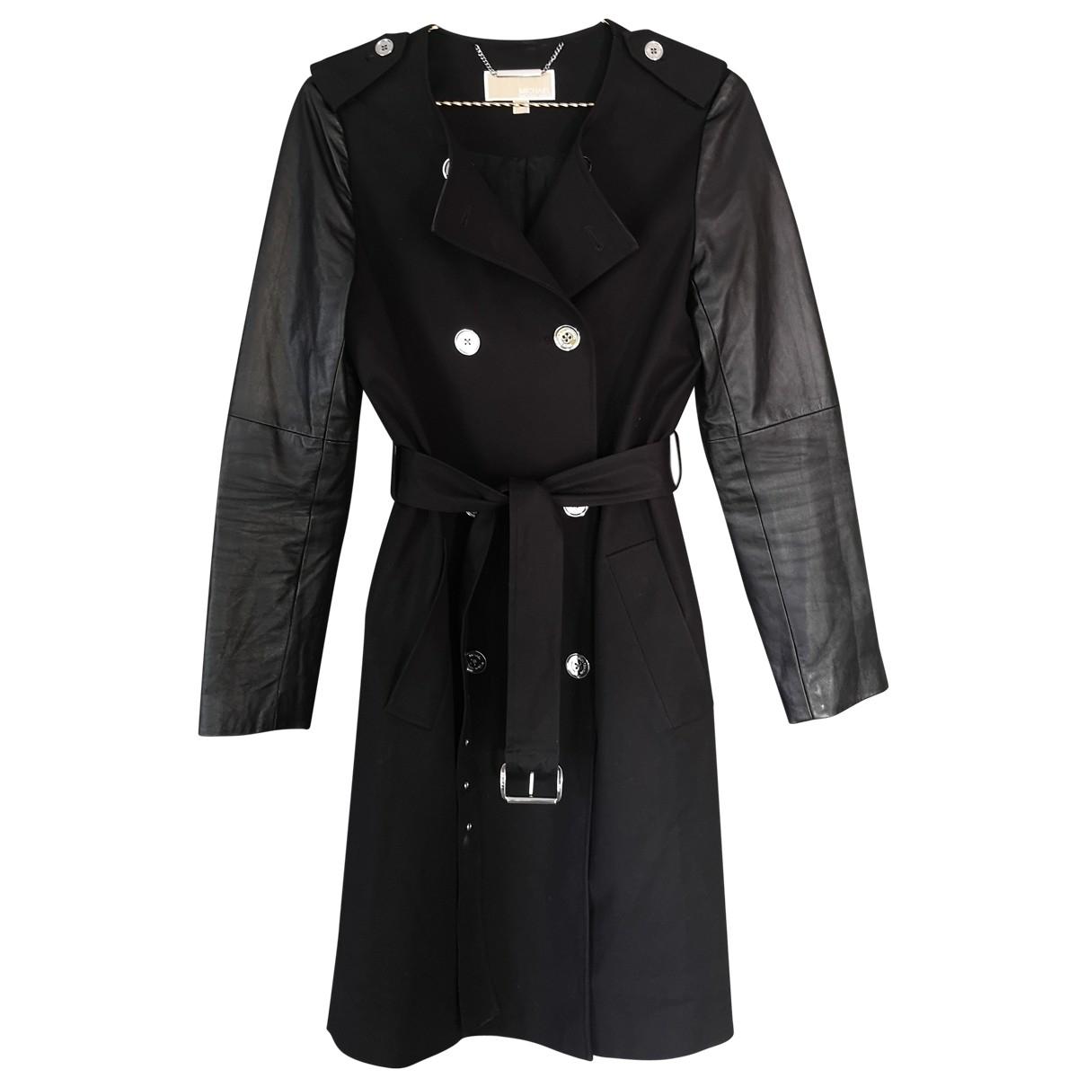 Michael Kors N Black Leather Trench coat for Women M International