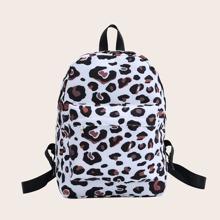 Mochila Leopardo Ajustable De moda