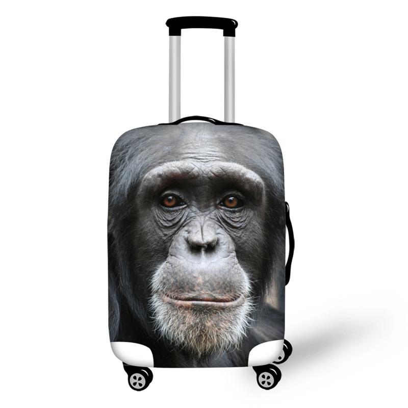 3D Orangutan Pattern Waterproof Luggage Cover Protector 19 20 21