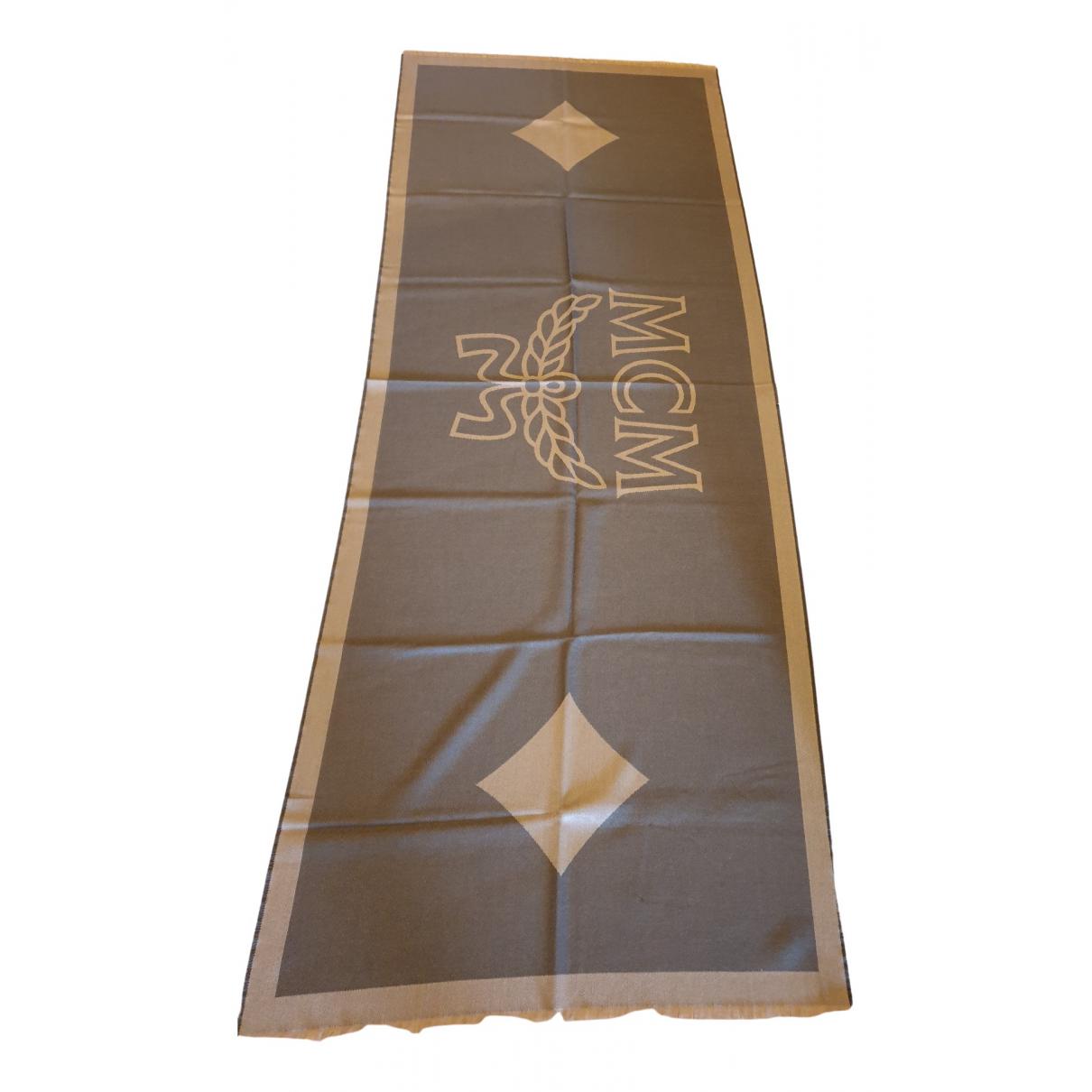 Mcm \N Green Wool scarf for Women \N