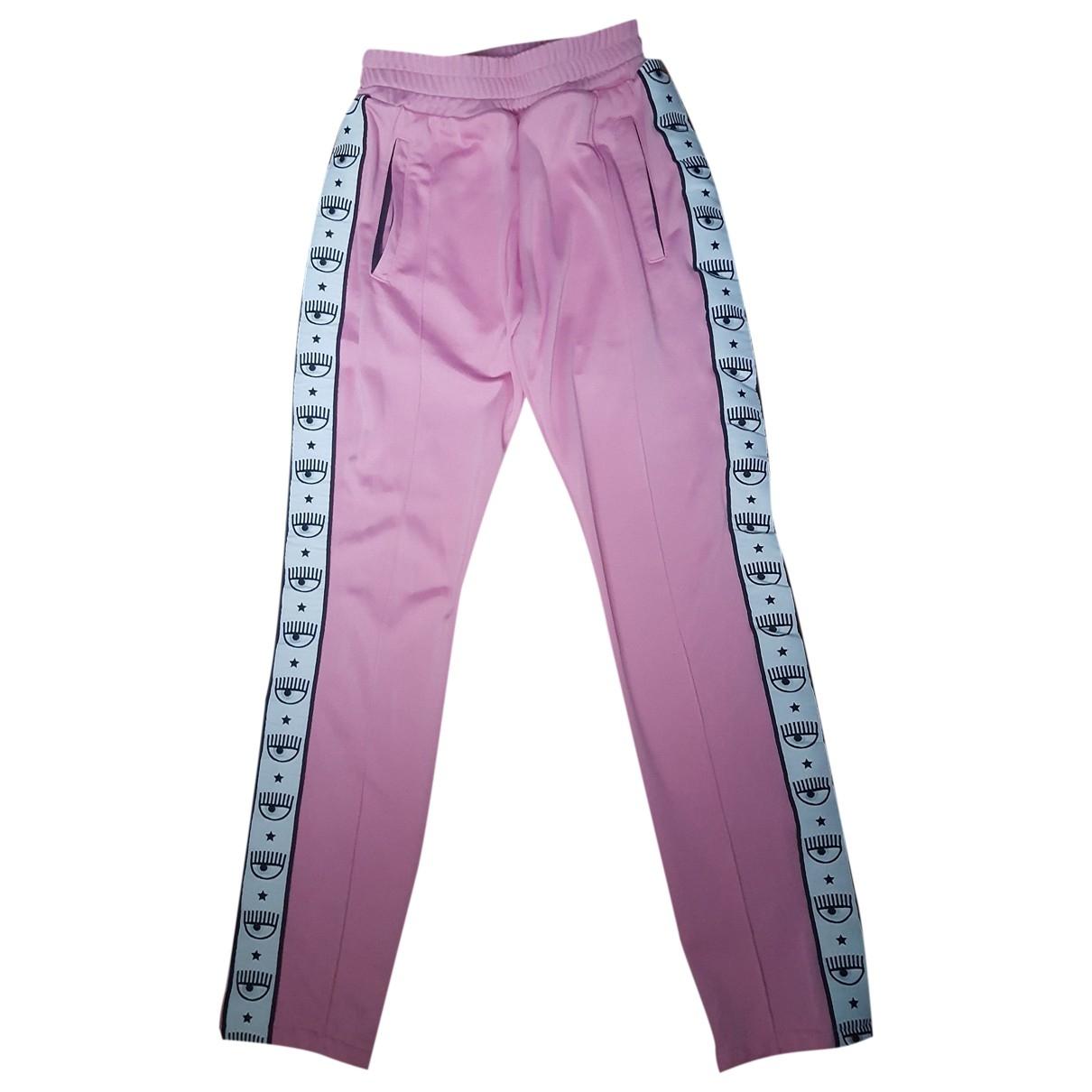 Chiara Ferragni \N Pink Trousers for Women M International