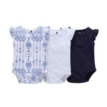 3pcs Baby Girl Tribal Print Bodysuit