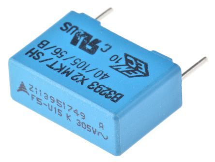 EPCOS 150nF Polyester Capacitor PET 305V ac ±10% (5)
