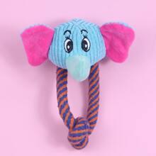 Juguete de perro en forma de elefante