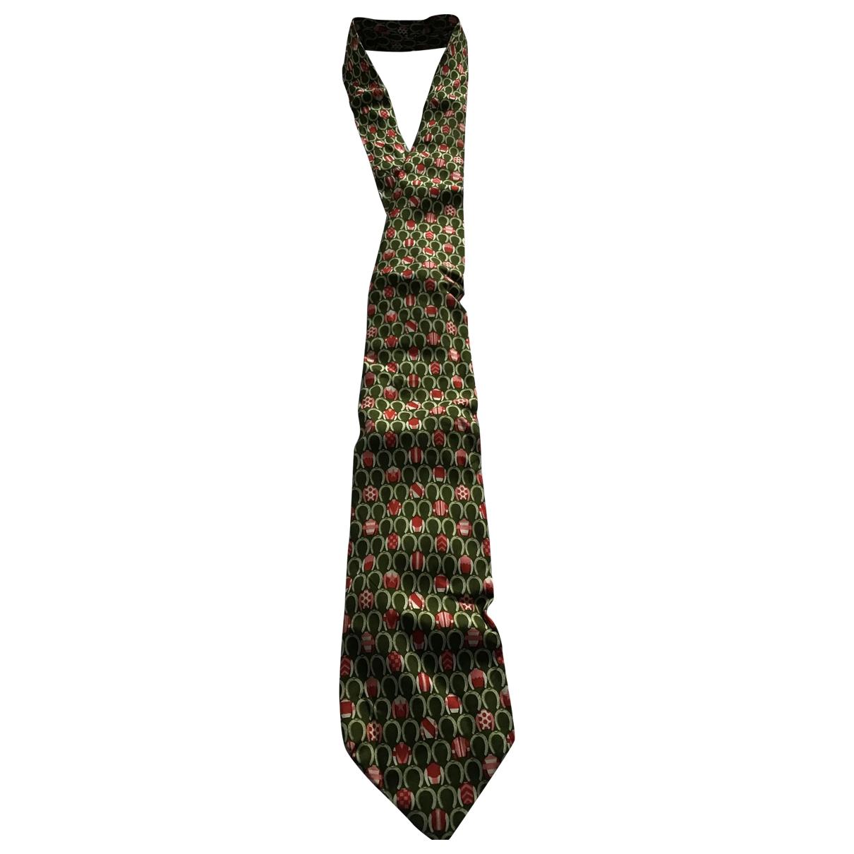 Longchamp \N Krawatten in  Gruen Seide