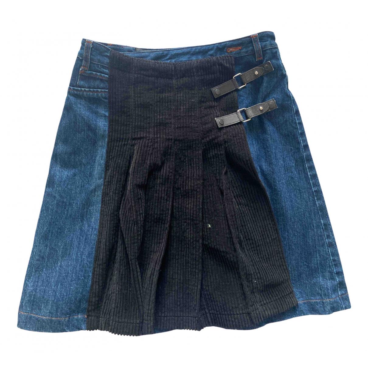 Jean Paul Gaultier \N Black Denim - Jeans skirt for Women 40 FR