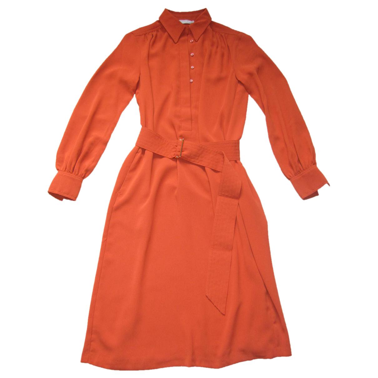 Stefanel \N Kleid in  Orange Polyester