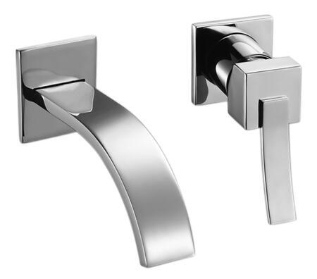 781.208.100 Chrome Single Lever Handle Ribbon Design Modern Wall Mount Lavatory